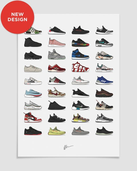 Image of ★ NEW ★<br>2017 Assorted Sneaker Print