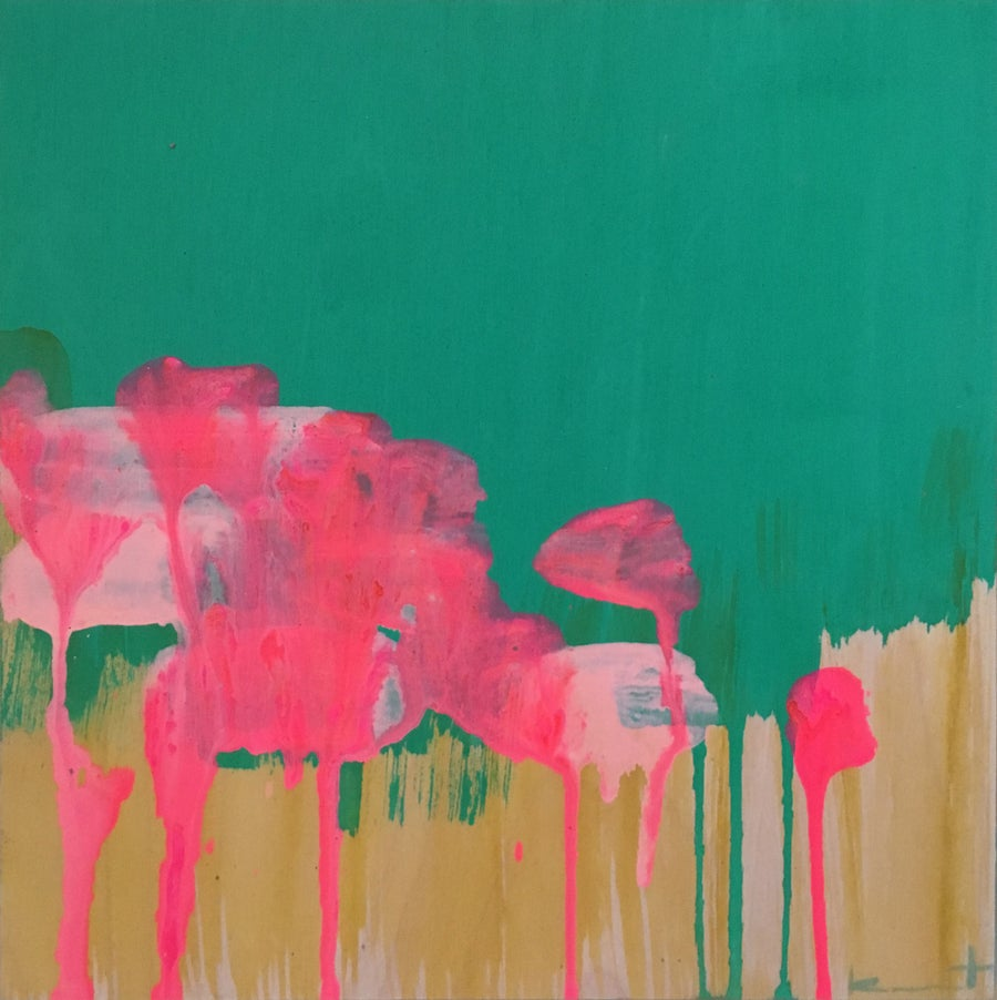 Image of Poppy Field No. 7 (emerald, opera, hay)