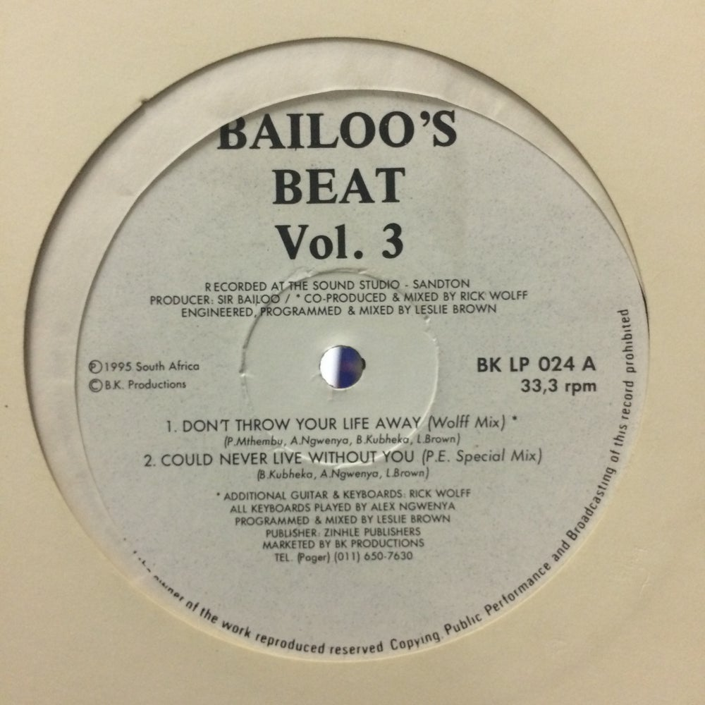 Image of Bailoo's Beat Vol 3