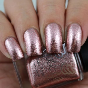 Image of Rosy Glow - Rose Gold and Silver micro flakies in a clear base.