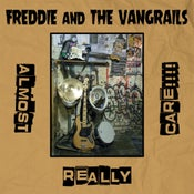Image of Freddie & The Vangrails - Almost Really Care!!!! LP (blue vinyl)