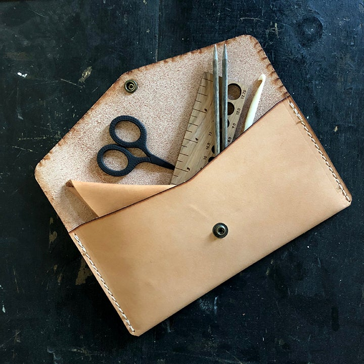 Image of Winter Session + Fringe leather tool pouch