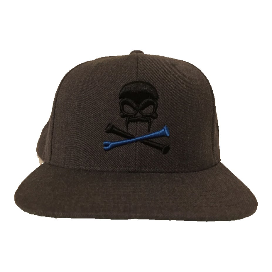 Image of Sonkei Blue 3D Puff Snapback Grey / Grey