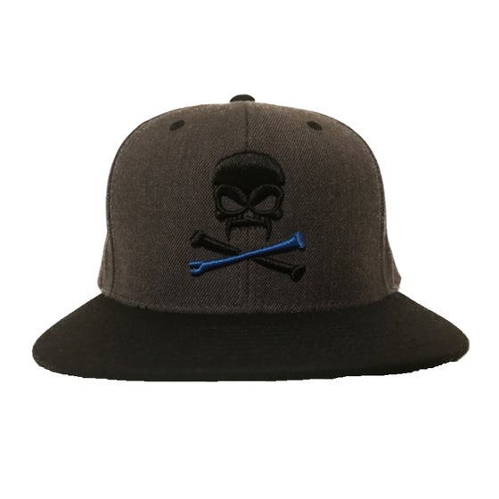Image of Sonkei Blue 3D Puff Snapback Grey / Black