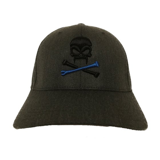 Image of Sonkei Blue 3D Puff Gray FlexFit hat