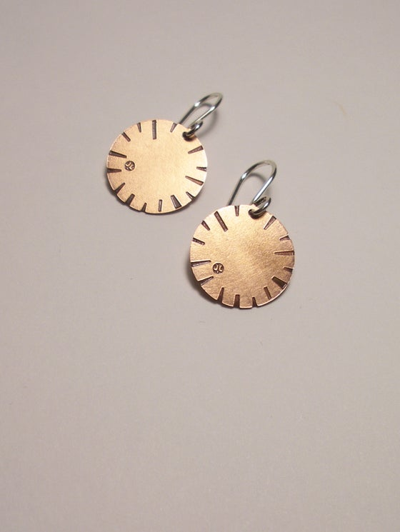 Image of DISK EARRING: BLOOM (COPPER)