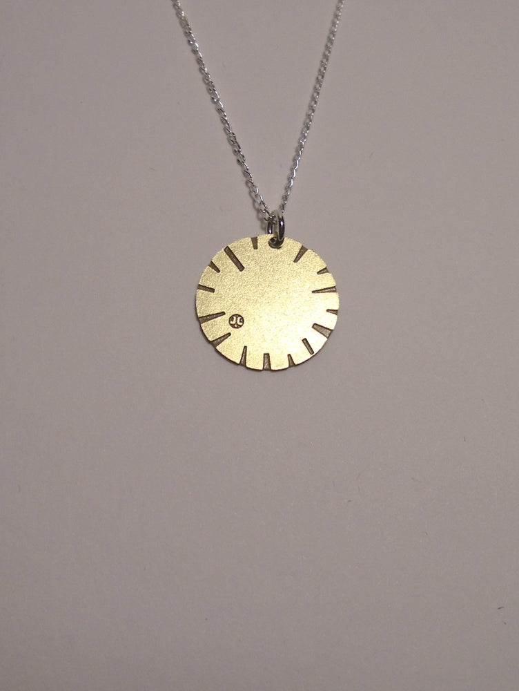 Image of DISK NECKLACE: BLOOM BRASS/COPPER/STSTEEL