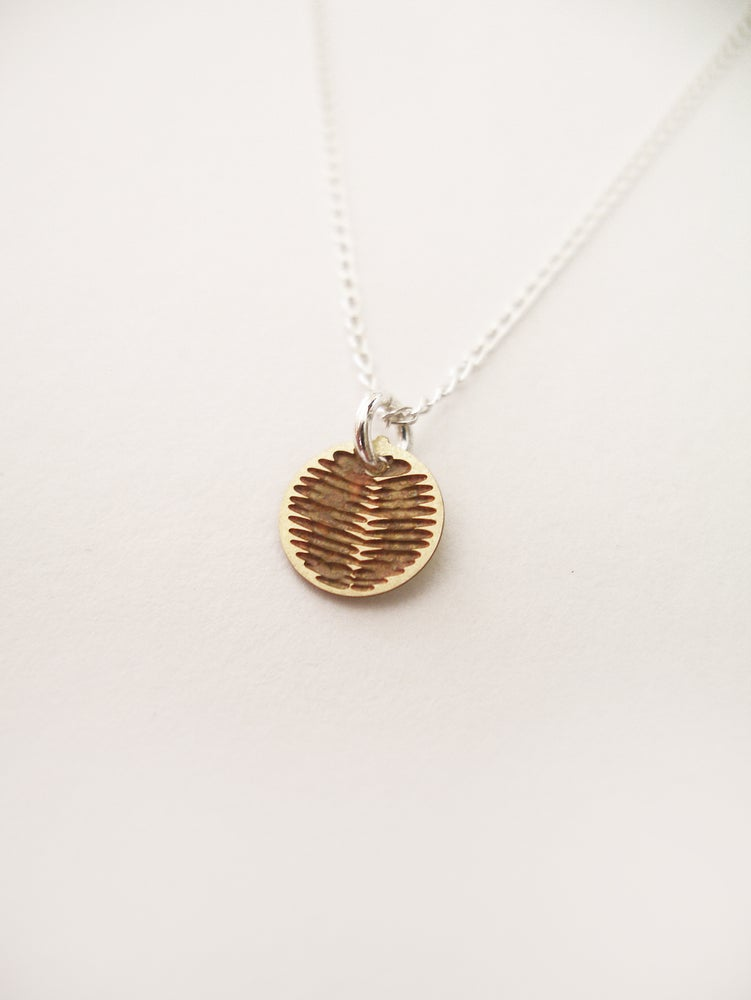 Image of DOT NECKLACE: WATTLE (BRASS/COPPER/STAINLESS STEEL)