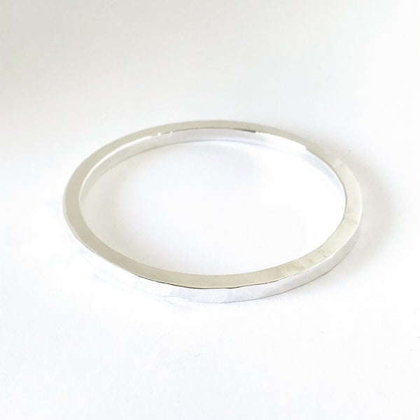 Image of Mantra Bangle in Sterling Silver