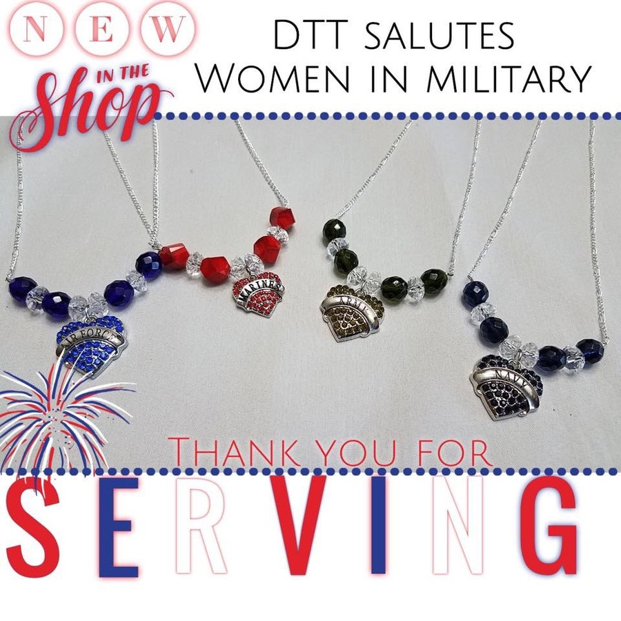 Image of Military Beaded & Chain Necklace