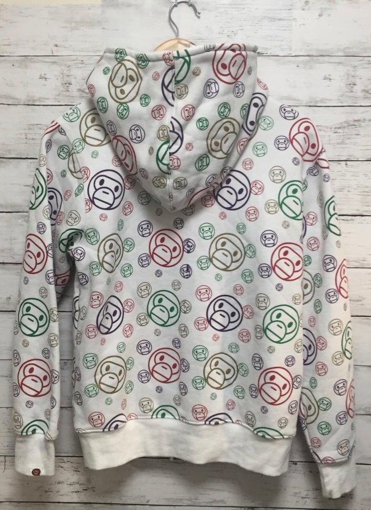 Image of Bape Japan Baby Milo Store Exclusive Multicolor Face Zull Zip Hoodie