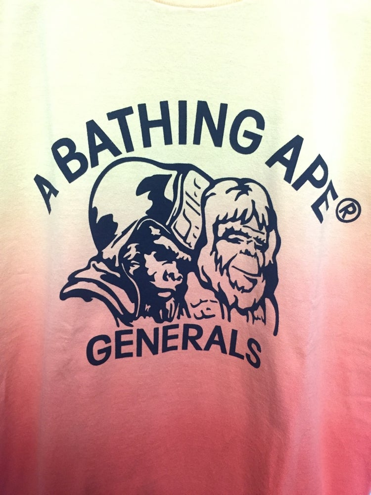 "Image of Bape Vintage "" General "" Gradient Orange T-Shirt"