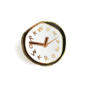 Image of Time To Work Enamel Pin