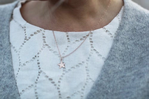Image of *NEW* star necklace in gold or silver