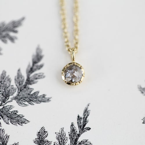 Image of *NEW* 18ct gold, little 3mm rose cut diamond necklace