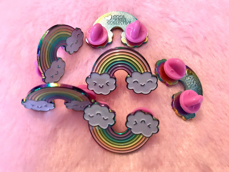 Image of Happy Rainbow - Rainbow Metal Pin