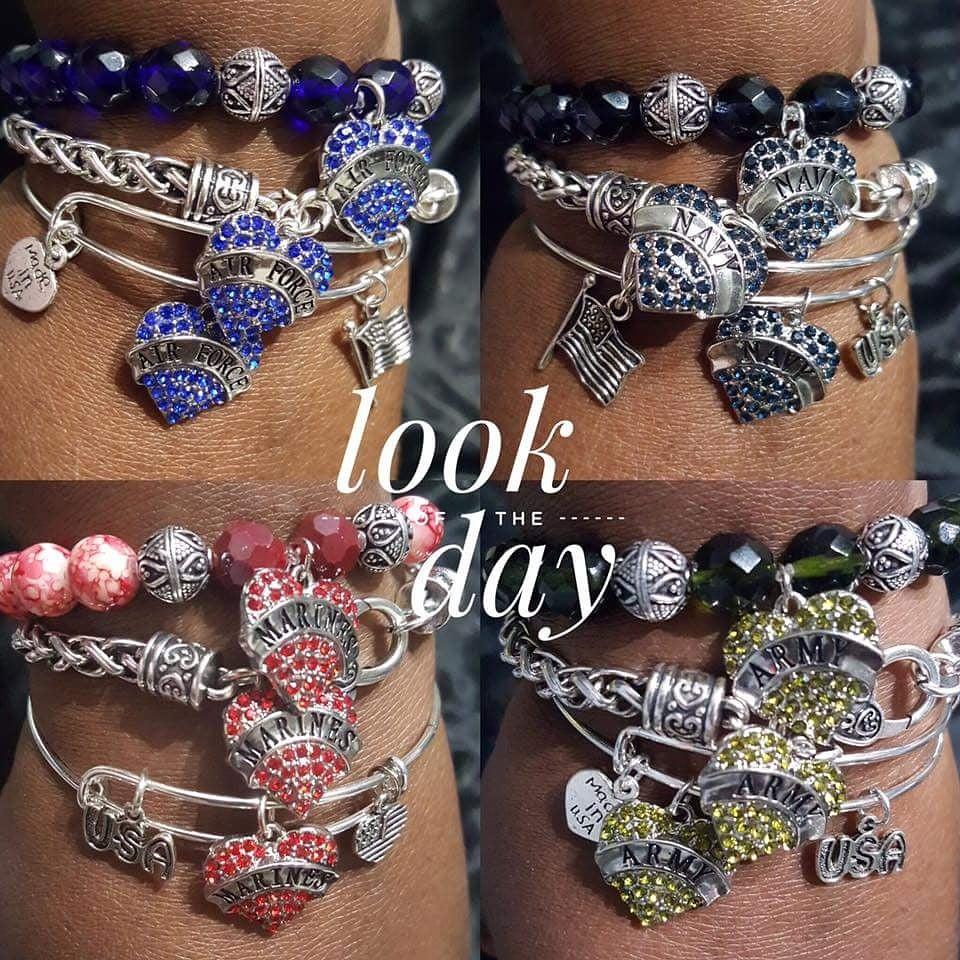 Image of Military Stack Bracelet Set