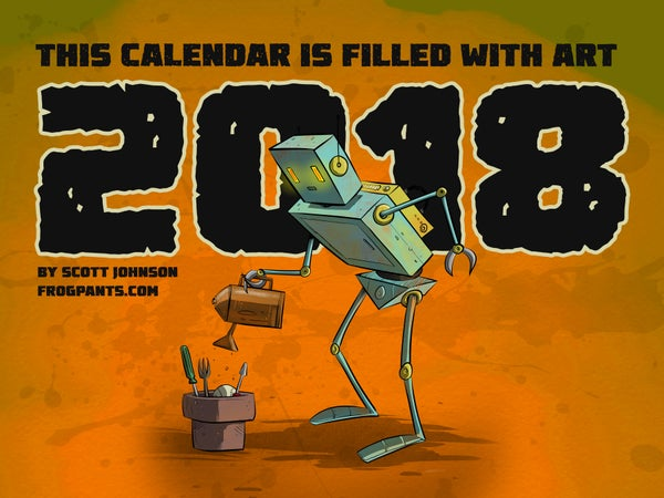 Image of 2018 Scott Johnson Art Calendar