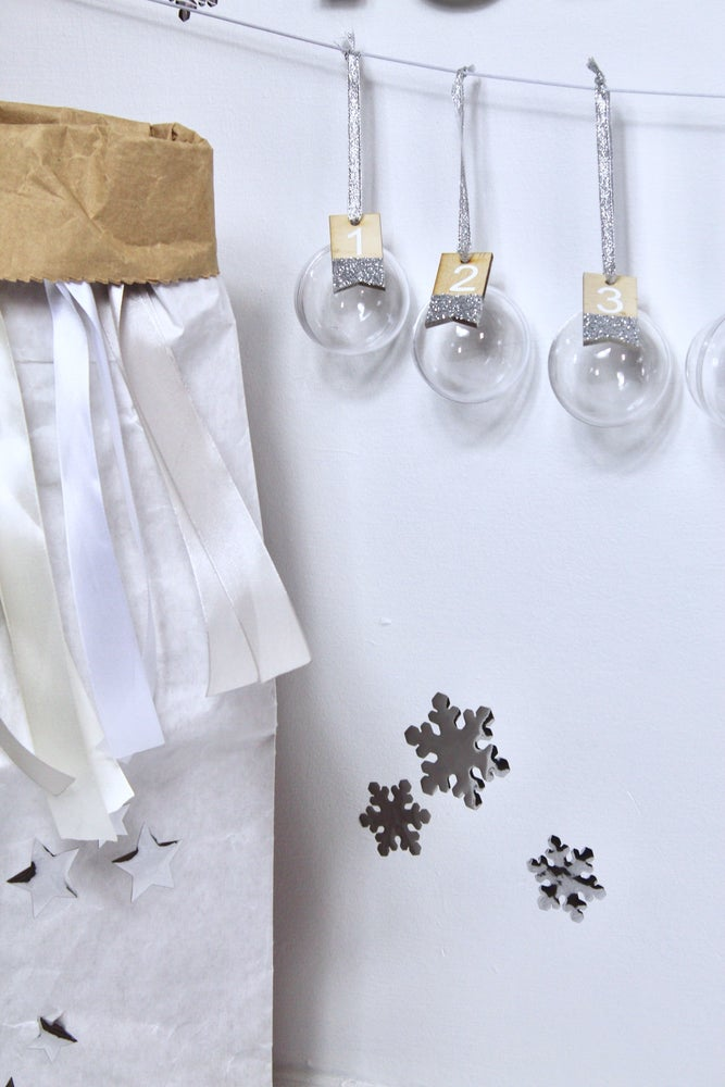 Image of Mirror snowflake decal set
