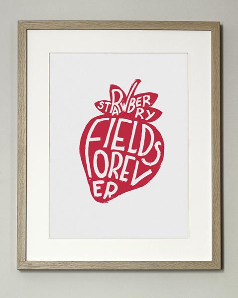 Image of ★ Nouveauté ★  Affiche Strawberry Fields