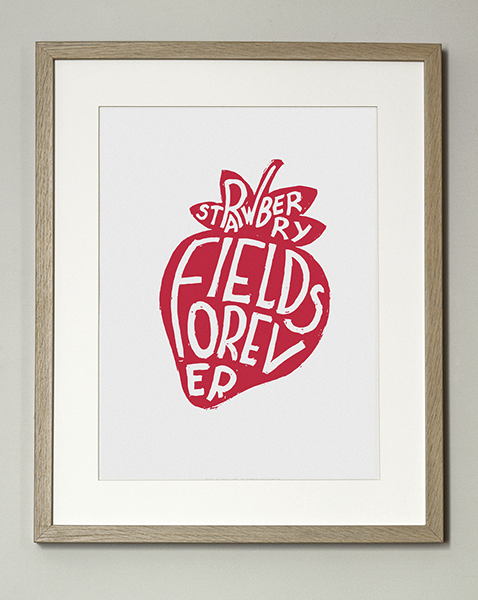 Image of ★ Nouveauté ★  Affiche Strawberry Fields