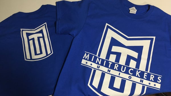 Image of Mini Truckers Union T-Shirt Blue