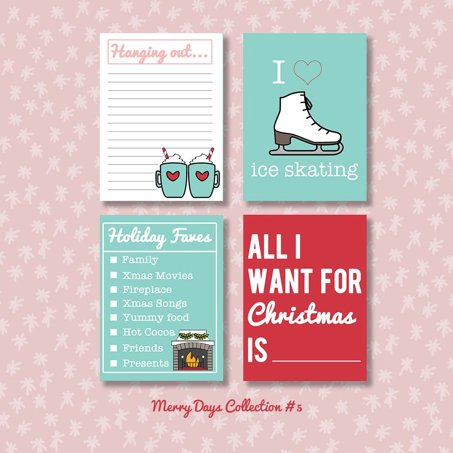 Image of Merry Days Project Life Cards (sheets 5, 6, 7 and 23)