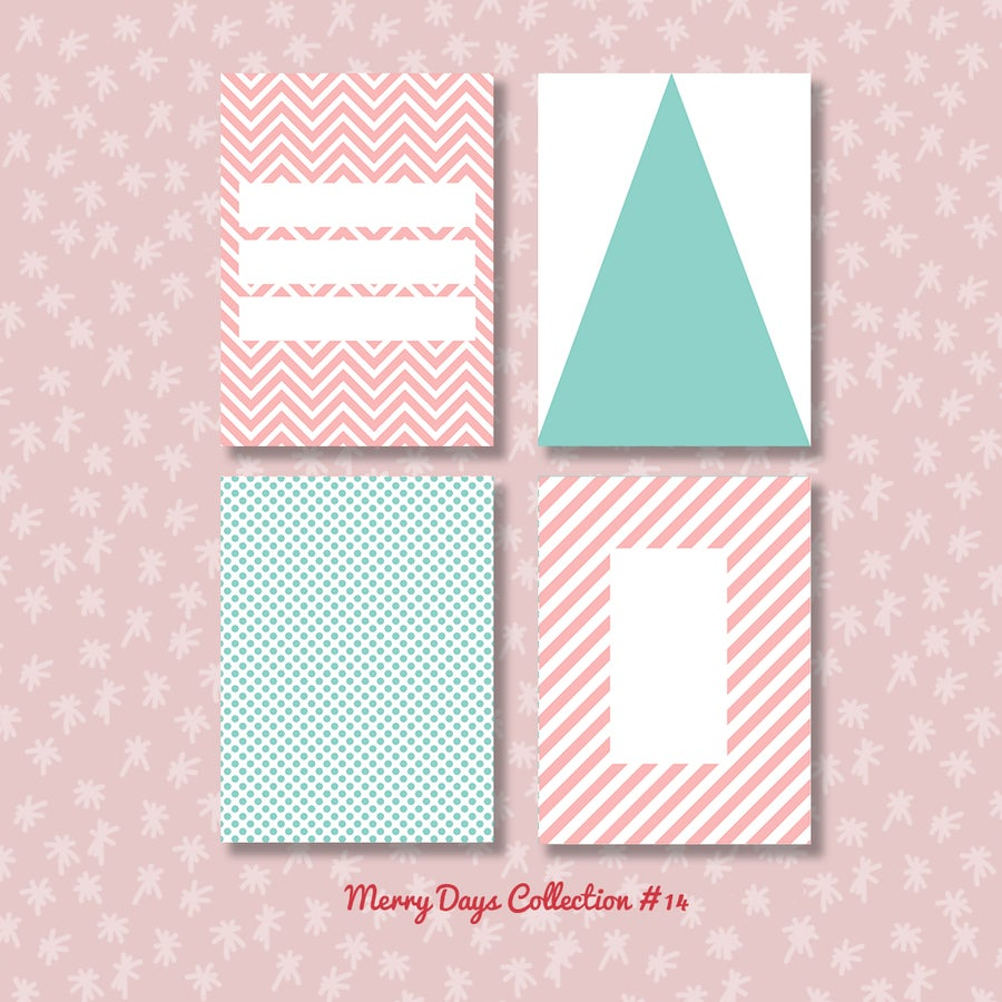 Image of Merry Days Project Life Cards (sheets 12, 14, 19 and 22)