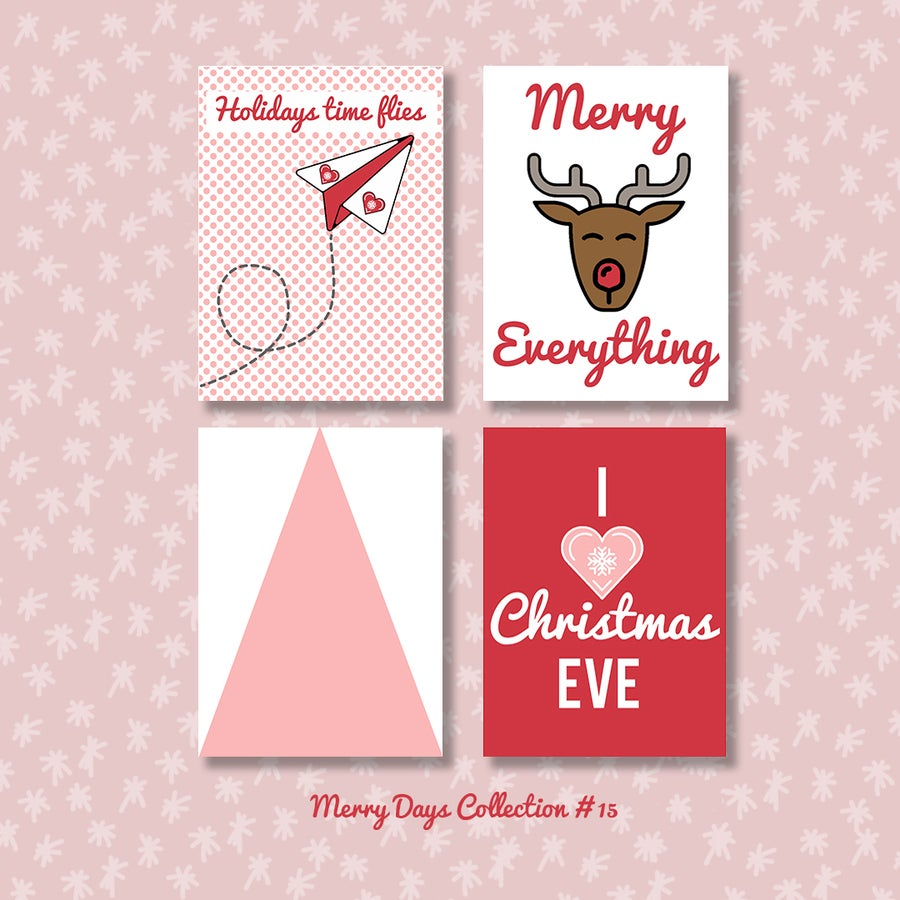 Image of Merry Days Project Life Cards (sheets 15, 18 and 21)