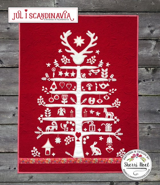 Image of Jul i Scandinavia ~ Christmas Quilt Pattern