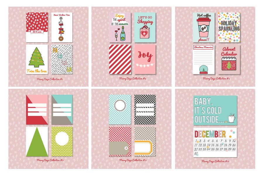 Image of Merry Days Project Life Cards BUNDLE