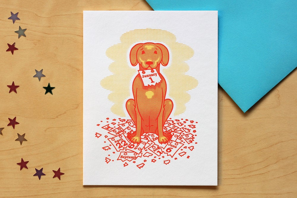 Image of HAPPY NEW YEAR DOG Card