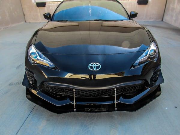 """Image of 2017 Toyota 86 front splitter """"V2"""""""