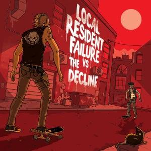 "Image of Vinyl 7"" Split EP - The Decline vs Local Resident Failure"
