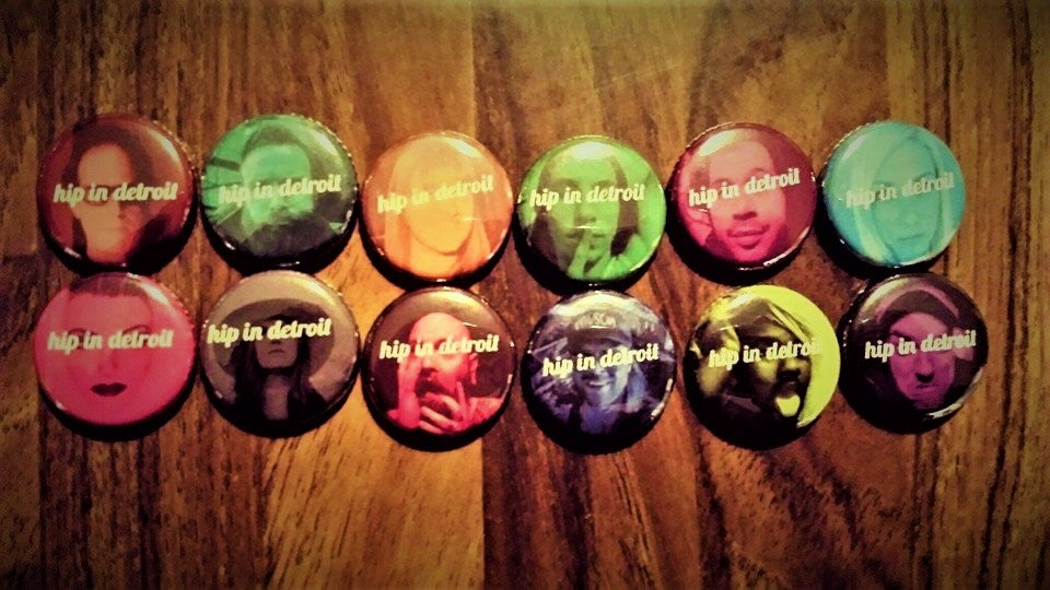 Image of Hip In Detroit Button Faces - 3 Pack