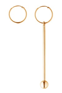 Image of POLE Earring Gold asymmetric