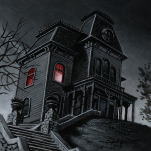 "Image of ""Bates House"" - 5"" x 5"" giclee"