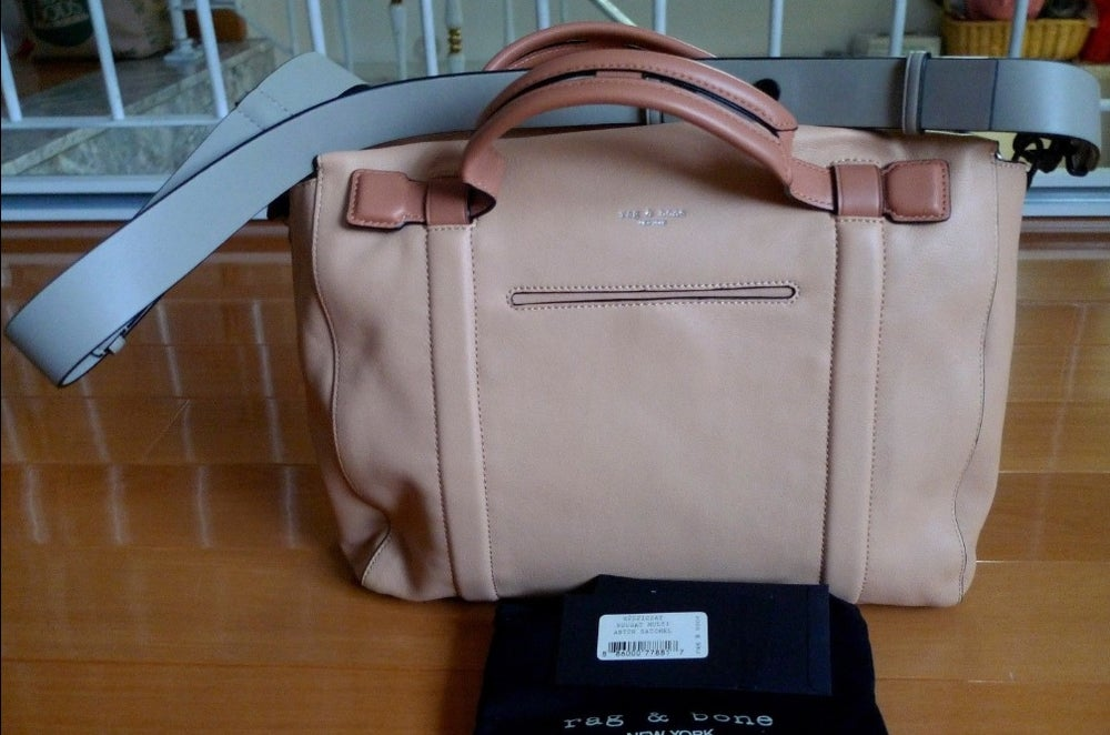 Image of RAG & BONE Aston Satchel Handbag Nougat Summer $925