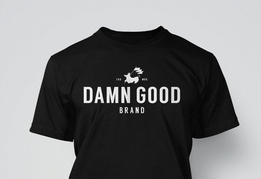 Image of Damn Good Brand, Unisex Tee, White on Black