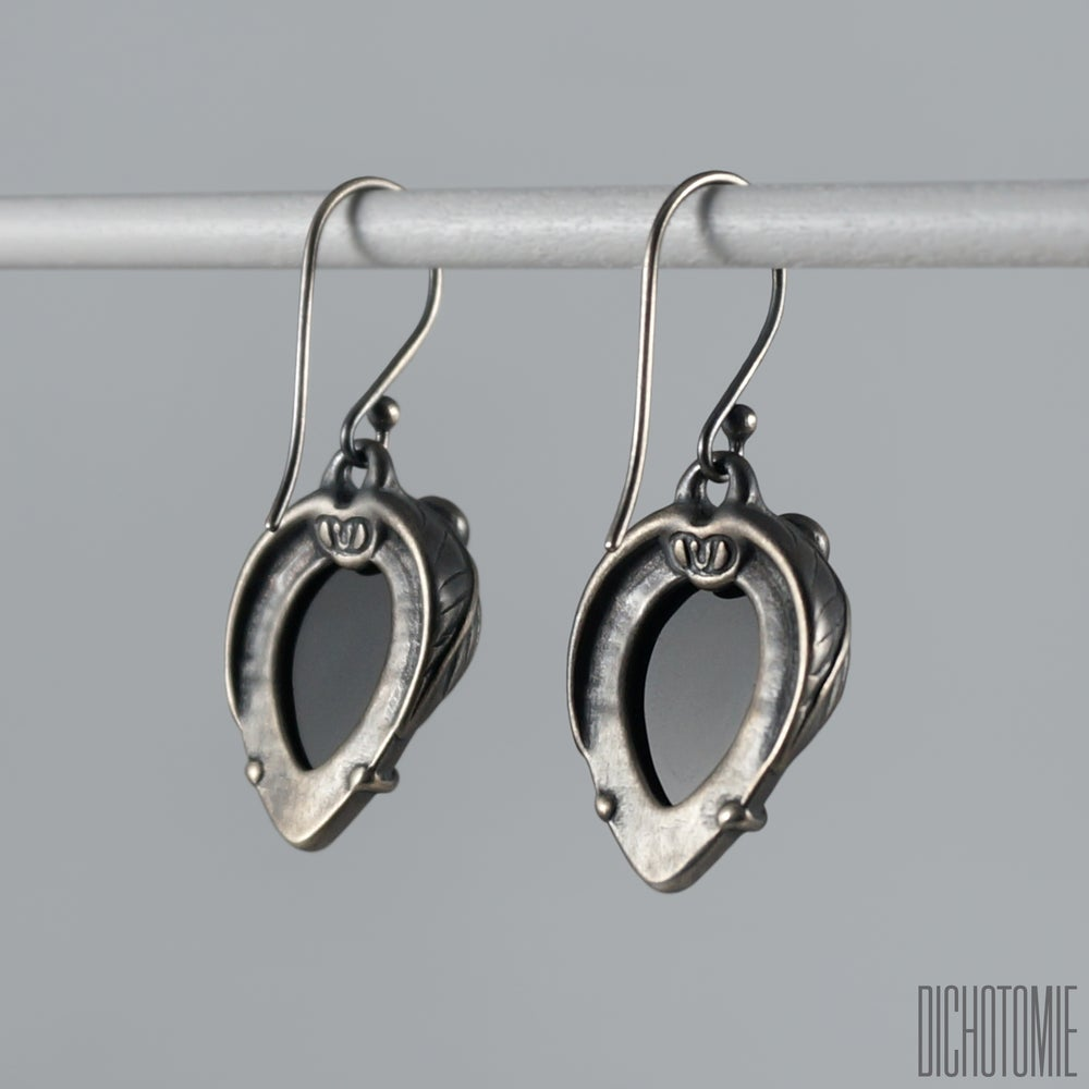 Image of La Belladonna Earrings Black Onyx