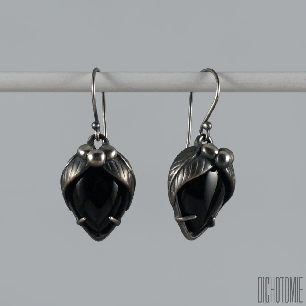 Image of La Belladonna Earrings Black Onyx