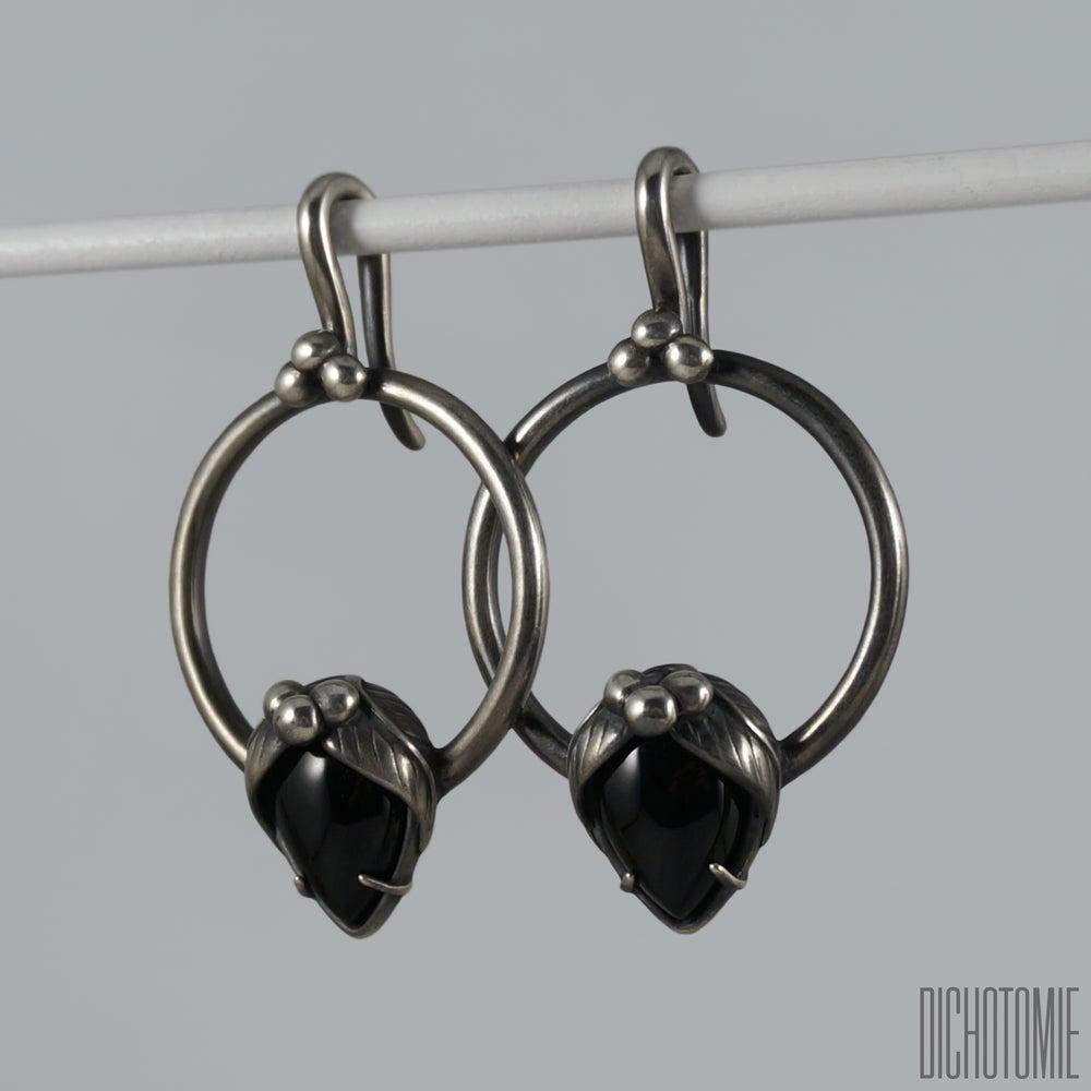Image of La Belladonna Ear Weights Black Onyx