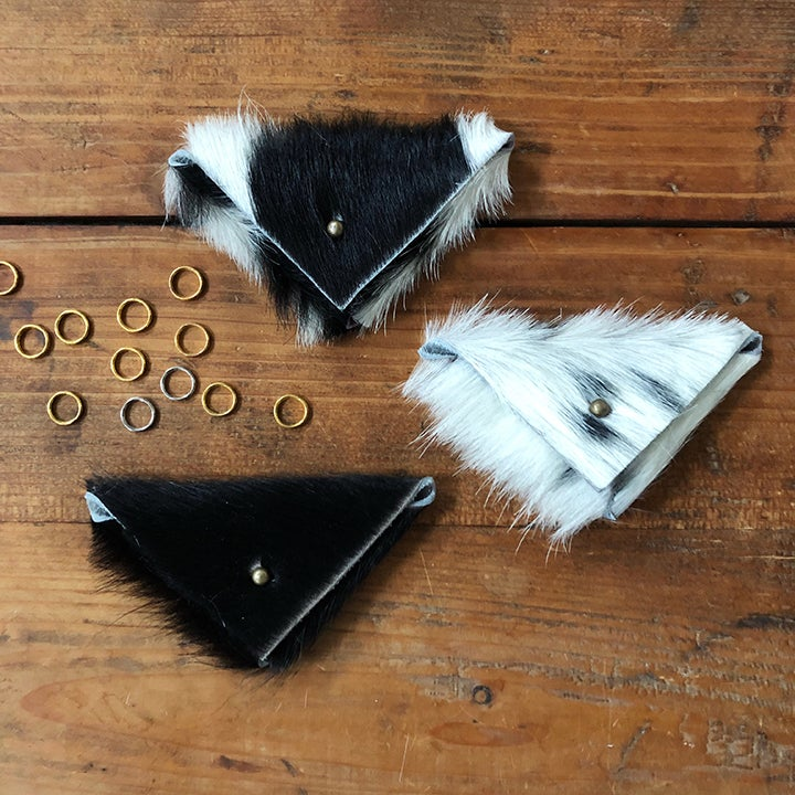 Image of Cowhide stitch marker pouch