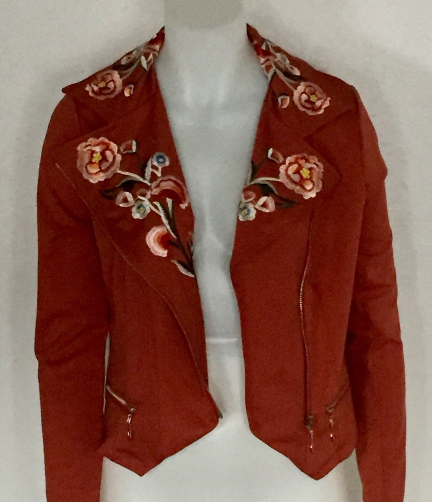 Image of Floral print fall jacket