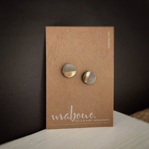 Image of Ma-bling - Gold & Concrete Studs