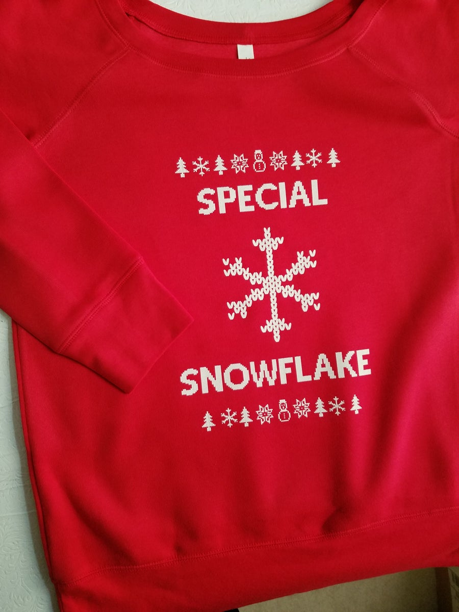 Image of SPECIAL SNOWFLAKE - Sponge fleece