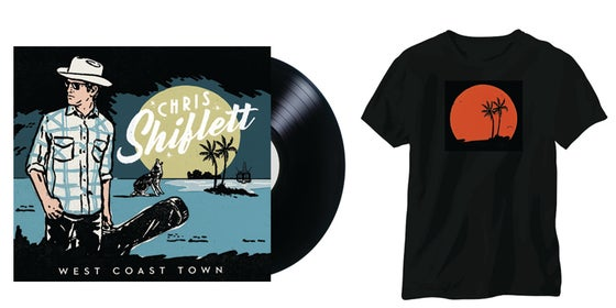 Image of (PRE-ORDER) Chris Shiflett - West Coast Town LP + T-Shirt