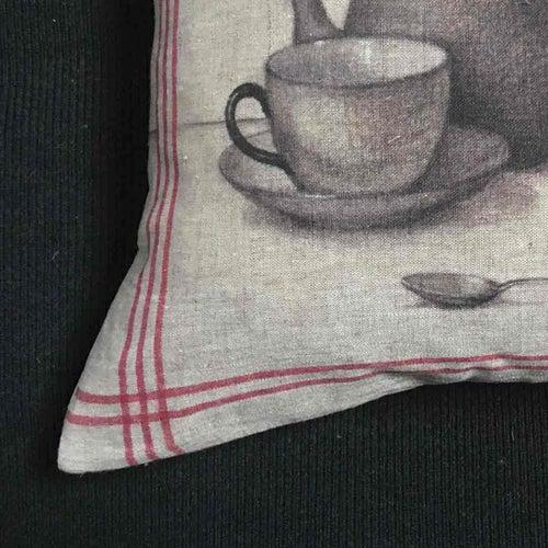 Image of Rabbit Tea Towel Cushion