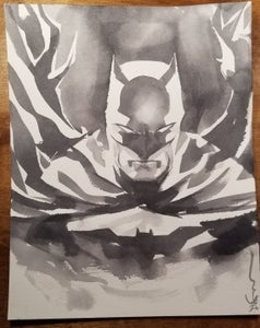 Image of Batman in brush