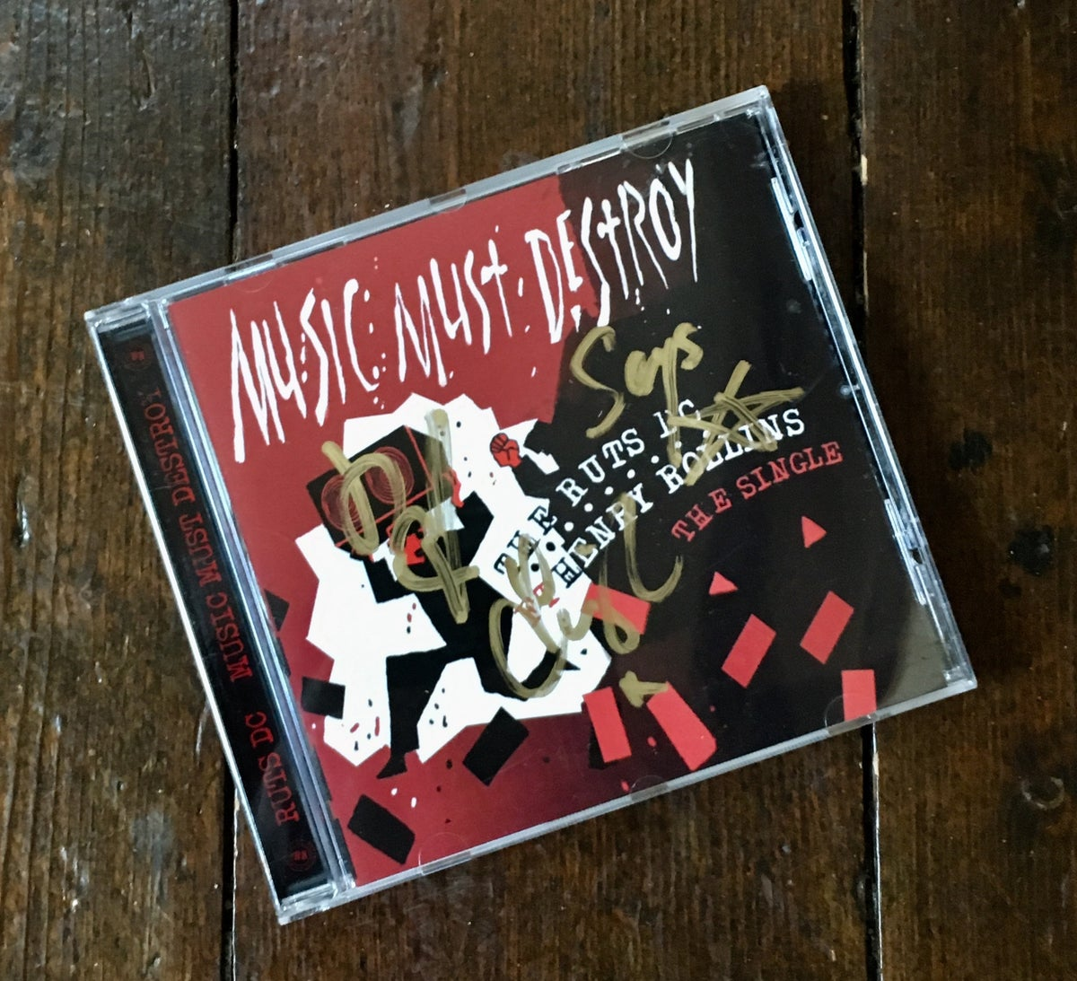 Image of RUTS DC 'Music Must Destroy' CD Single